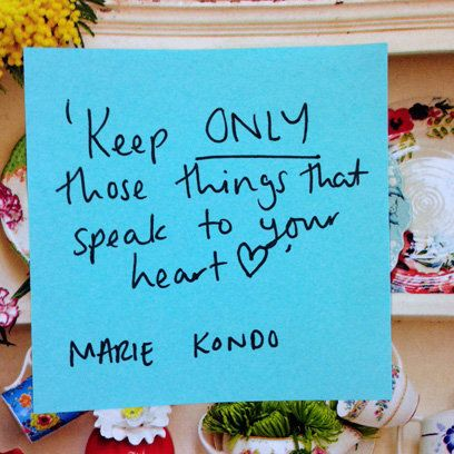 Keep Only Those Things